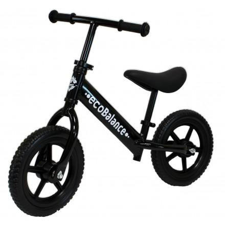 Беговел легкий с алюминиевой рамой EcoBalance Next черный для детей от 2 лет (весит 1,9 кг)