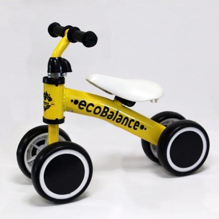 Беговел каталка EcoBalance Baby желтый для детей от 1 года
