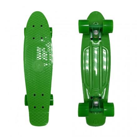 Скейтборд ecoBalance, зеленый с зелеными колесами