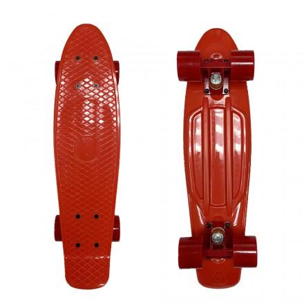 Скейтборд ecoBalance, красный с красными колесами