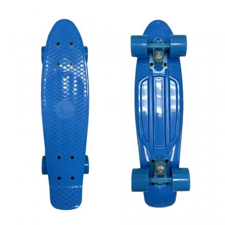 Скейтборд для мальчика EcoBalance голубой с голубыми колесами