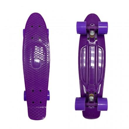 Лонгборд ecoBalance, фиолетовый с фиолетовыми колесами