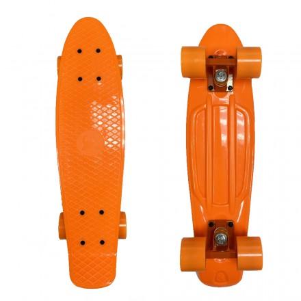 Скейтборд для девочек EcoBalance оранжевый с оранжевыми колесами