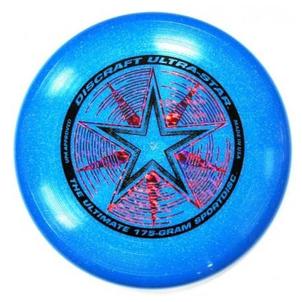 Летающий диск Ultra-Star синий с блестками