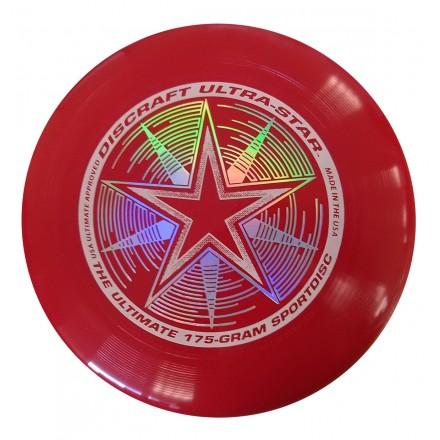 Летающий диск Ultra-Star темно-красный