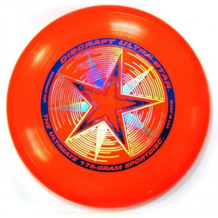 Летающий диск Ultra-Star ярко-красный