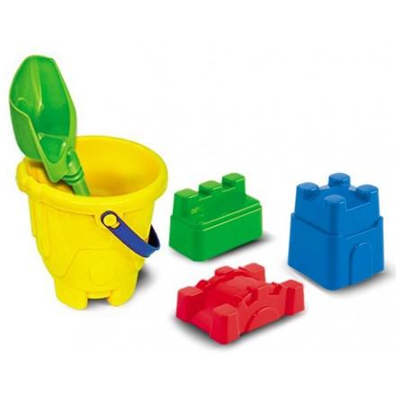 Набор игрушек для песка (ведро, лопатка, формочки крепость) Нордпласт арт.079