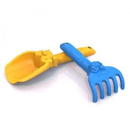 Набор для песка (грабелька+лопатка)