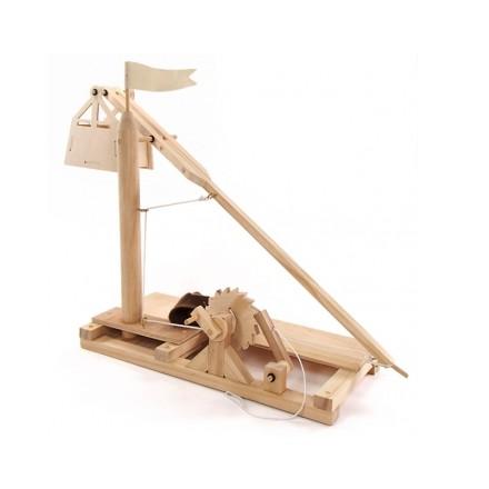 Требушет, метательная машина - деревянная сборная модель Леонардо да Винчи D-032