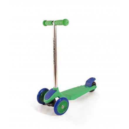 Самокат детский трехколесный, зелено-фиолетовый