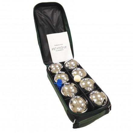 Игра Петанк (Боча) стальной Ecobalance - набор из 8 шаров в сумке