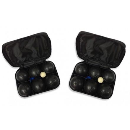 Два набора для игры в петанк -  два черных, 12 шаров