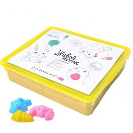 Комплект для игры в живой песок, контейнер + инструменты для игры