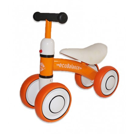 Беговел каталка EcoBalance Baby оранжевый для детей от 1 года