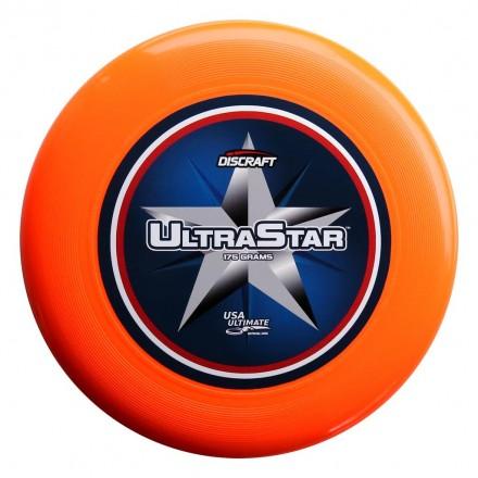 Диск Фрисби Discraft Ultra-Star полноцвет оранжевый (175 гр.)