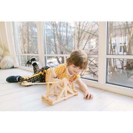 Катапульта - деревянная сборная модель Леонардо да Винчи D-017